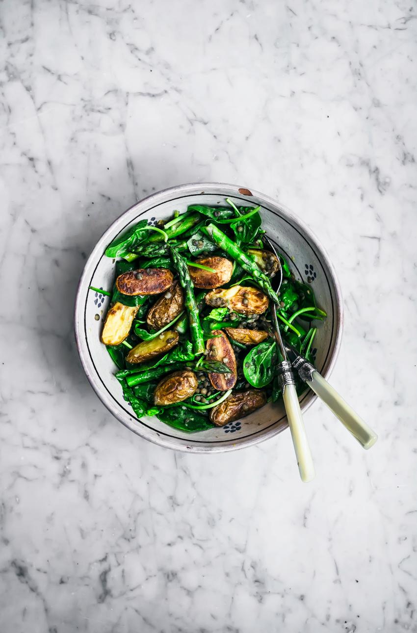 Asparagus New Potato Salad | occasionallyeggs.com