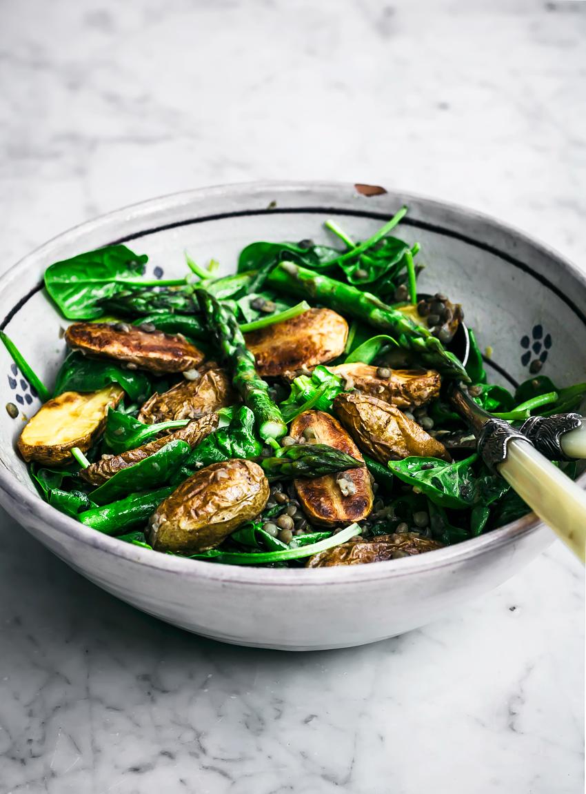 New Potato Salad with Asparagus & Lentils   occasionallyeggs.com